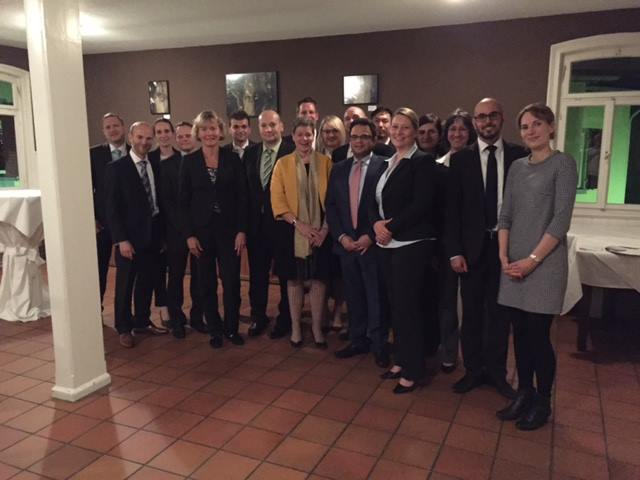With Ms Simone Menne, Lufthansa's CFO, Professor Dr Yvonne Ziegler and a group of exciting alumni and current students of the Frankfurt University of Applied Sciences Aviation MBA Programme in Kronberg, Frankfurt last week... great discussion and great di