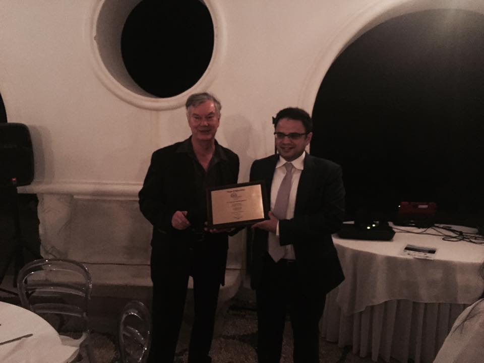Honoured by the International Academy for the Study of Tourism last Thursday night in Rhodes, Greece.