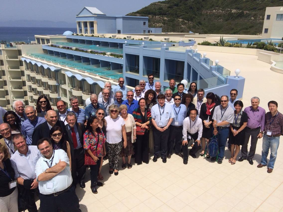 Welcoming hosts to Greek Hospitality at Atrium Platinum Hotel Rhodes Greece
